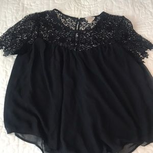 Black blouse from Pac sun